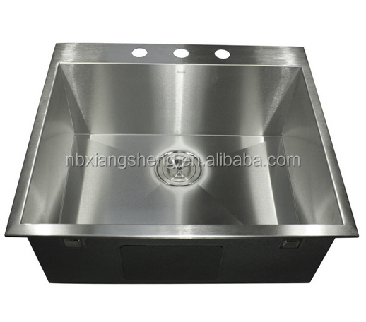 "30"" Zero Radius Undermount Stainless Steel Square Kitchen Sink"