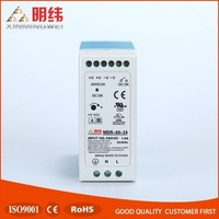 MDR-60-24 mini size converter voltages 60w 24 volt, ac dc industrial din rail switching power
