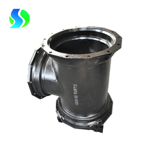ductile iron all flange end equal tee for ductile iron pipe