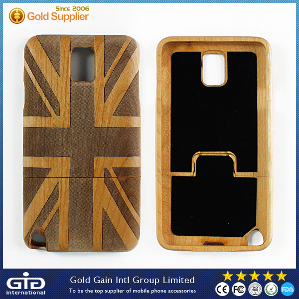 Flag Wood Case for Samsung for Galaxy for Note 3