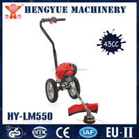HY-LM550 gasoline ignition coil manual grass trimmer with wheels petrol brush cutter