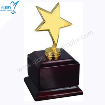 Wholesale Best Popular Star Trophies Wooden Base