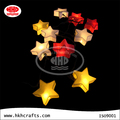 Battery powered string of paper star lanterns