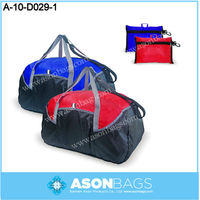 Promotional foldable duffle bag