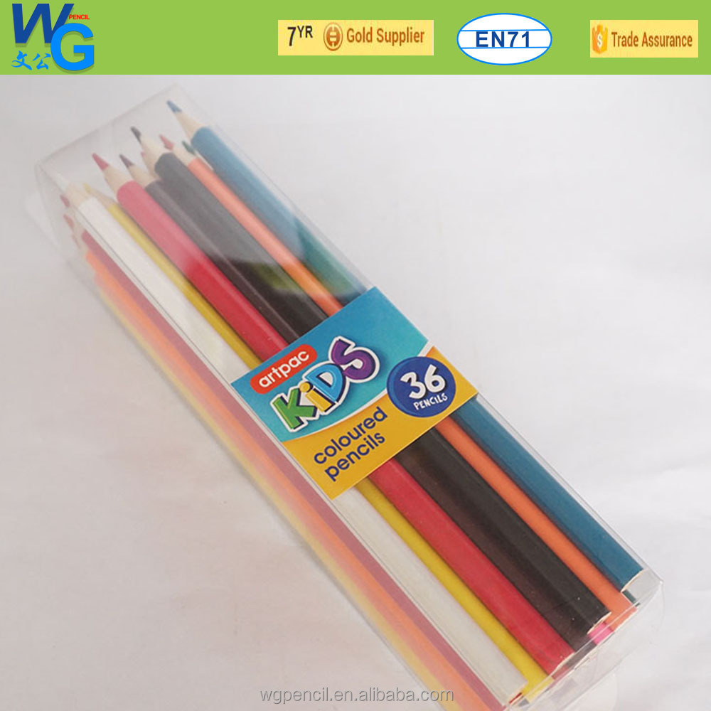 Back to School from China direct factory 36 colored wooden pencil with pvc gift box