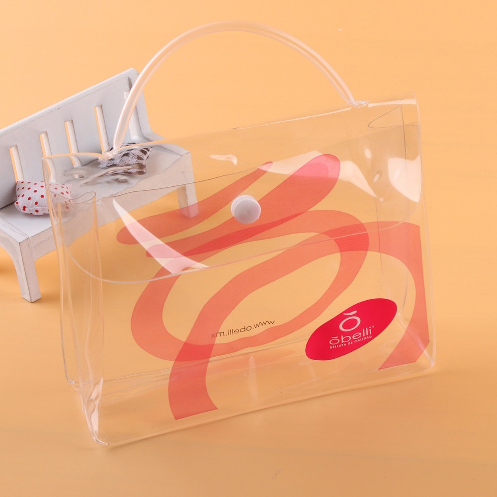 Clear cosmetic bag pvc transparent bag with zipper