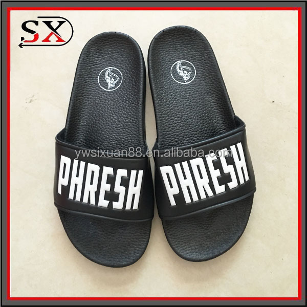 Custom logo ladies sandals and slippers plain slide sandal