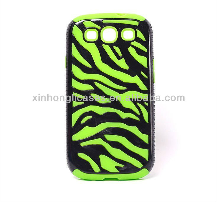 Zebra-stripe style case for samsung i9300 samsung galaxy III S3 High Quality PC case