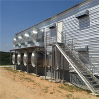 easy assembly and good quality prefabricated steel structure farm building poultry chicken shed with GCC certificate