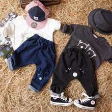 S64593A New Cartoon Fashion Character Children Kids Baby Boy Jeans