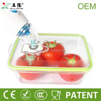 BPA free rectangular plastic vacuum food storage containers with pump,vacuum storage container for food