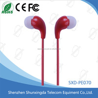 High quality colorful flat cable In-Ear Stereo Headset Earbuds mobile Earphone for all mobile phones with mic, get free samples