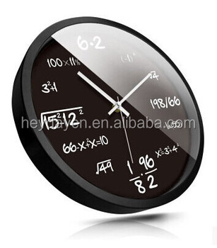 mathematical formula plastic wall clock (HD-8014AEG)