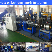 Used HDPE LDPE PE film bags plastic granules extruder machine granulator making machine