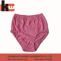 Free Sample Pure PInk Color Briefs Underwear Wholesale for Fat Women