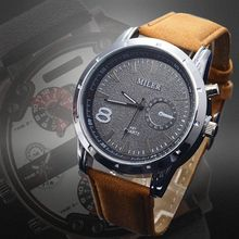 Men's watch pu Leather Sports Military Watches Out Door Hot Sale! Fashion Quartz 2015 Style leisure Wristwatch Round Dial Relogs