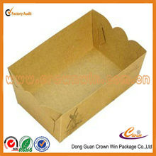 kraft paper take away fast food box with lid