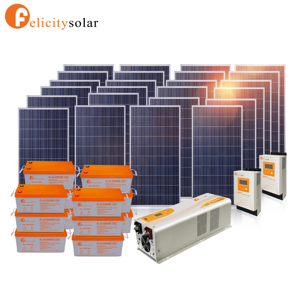 Nigeria home use off grid 6kw solar system kit, off grid solar panel kit 6000w