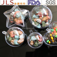 plastic round ball and PS heart shape for candy packaging boxes