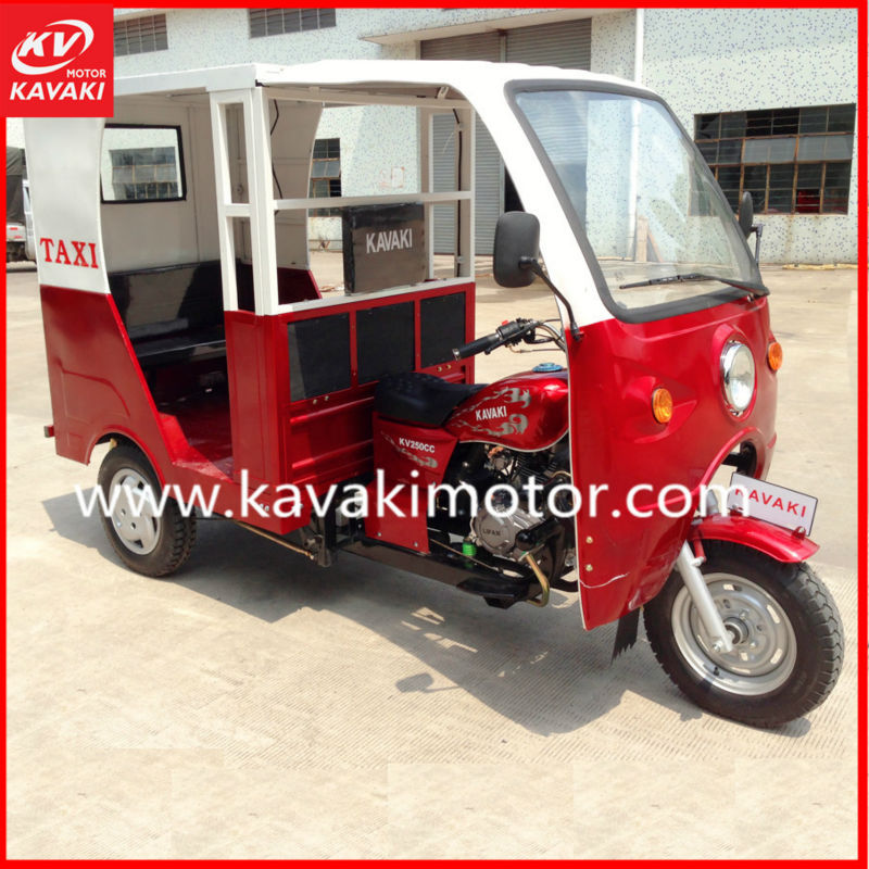 Red 150cc Air-cooled Passenger Taxi Moto/Trimoto Bajaj Style