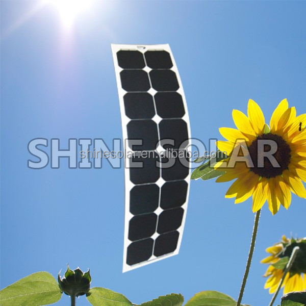 flexible solar panel 50w in shenzhen manufactor 125*125mm cell
