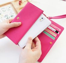 Elegant smart ladies' long wallet mobile phone bag with wristband mobile phone wallet