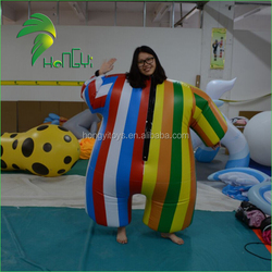 Funny Droll Fat Custome Balloon Suit , Colorful Inflatable Custome , Inflatable Balloons Suits