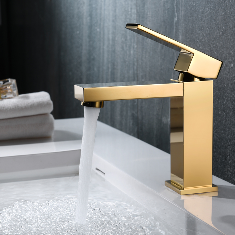 2017 new luxury brass bathroom basin mixer tap rose gold faucet with high quality