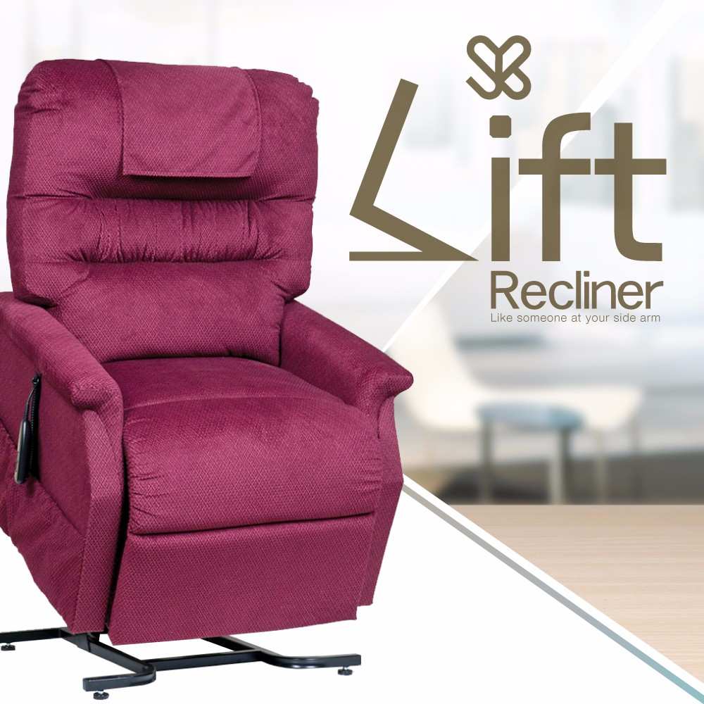 Fabric Recliner Bed Remote Control Lift Chair Sofa for Elderly