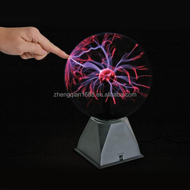 6'' inch USB Plasma Ball Sphere Light Magic Plasma Ball Crystal Light Transparent Lamp Home Decoration