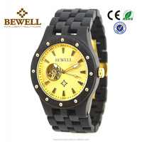 Handmade Fashion Luxury automatic mens watch wood watch black