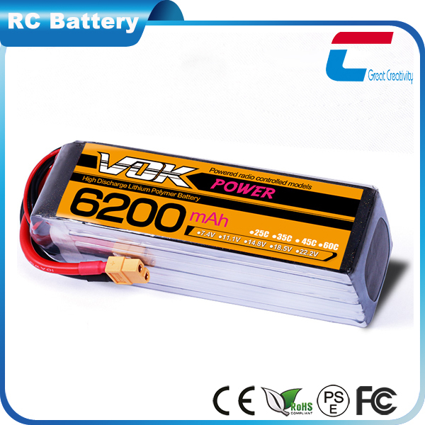 4S 14.8v 6000mAh 35C-70C Lipo Battery for Hi-Po Plane