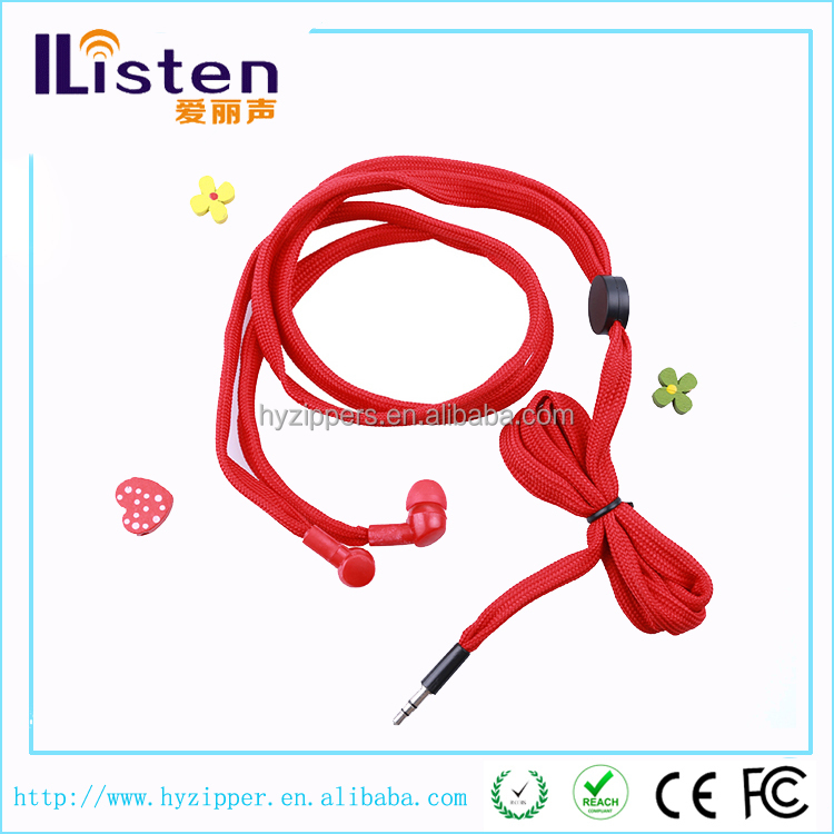 hot new product for 2015 cheap shoelace cable earbuds for mp3 player