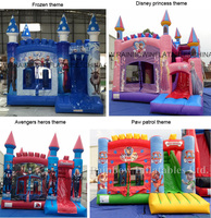 New Commercial Small Inflatable Bouncy Castle Prices Wholesalers Elsa Castle For Sale