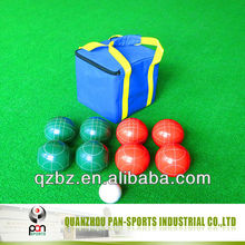 Resin bocce ball set / lawn bowls