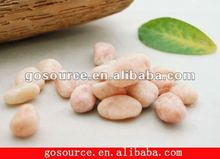 garden landscaping pink color pebble stone
