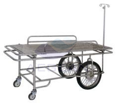 AG-SS031 simple adjustable hospital emergency stretchers stainless steel trolley cart