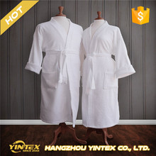 Hotel Quality White Heavy Terry Cloth Bathrobe With Embroidery Logo
