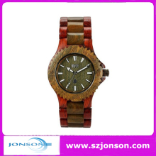 High quality and fast delivery time 100% natural wooden wrist watch with CUSTOM LOGO