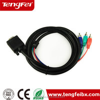 VGA cable male to male vga to tv converter s-video rca out cable adapter 1.8M made in China