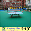 Outdoor multi sport tennis/ badminton/ basketball court flooring pp interlocking tile