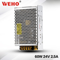 Universal regulated 24v dc switch mode power supply 60w