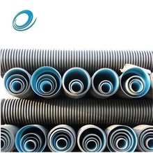 Smooth black underground drainage hdpe pipes 600mm for hydraulic engineering