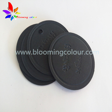 China Factory price custom black round embossed gift hang tags