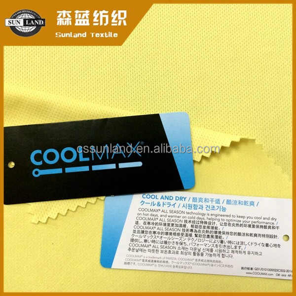 coolmax 100 polyester needle mesh fabric for sports wear