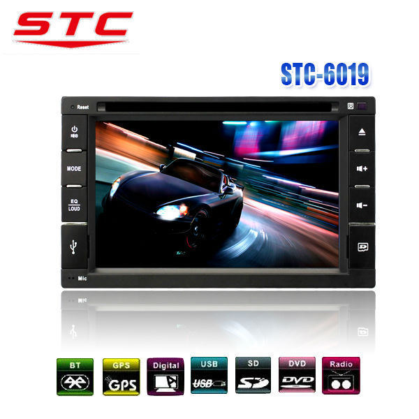 Camera+7'' Double 2 Din Touch Car Stereo DVD Radio Player USB TV IPod Bluetooth STC-6019