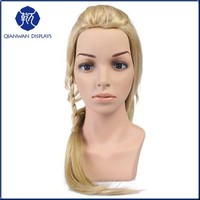 Made in China plastic female wig mannequin head for display