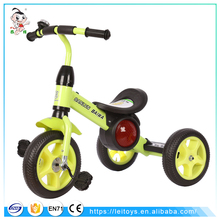 Simple and easy plastic material cheap baby carrier tricycle kids trike with music for small child
