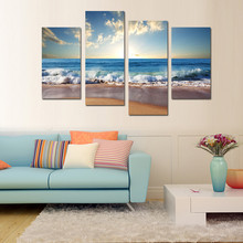 4panels group decortaion furniture wall art pictures wholesale cheap China prints
