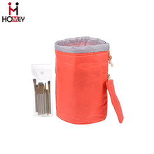 Barrel Bag / Cosmetic / Travel / Bucket Makeup Bag